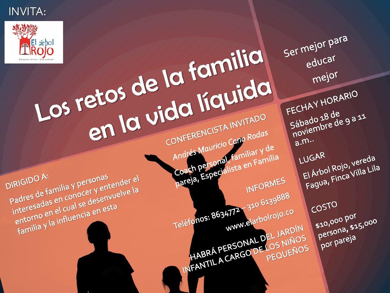 Conferencia Los retos de la familia en la vida líquida